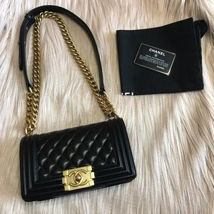 Chanel Boy Bag Lambskin w GHW